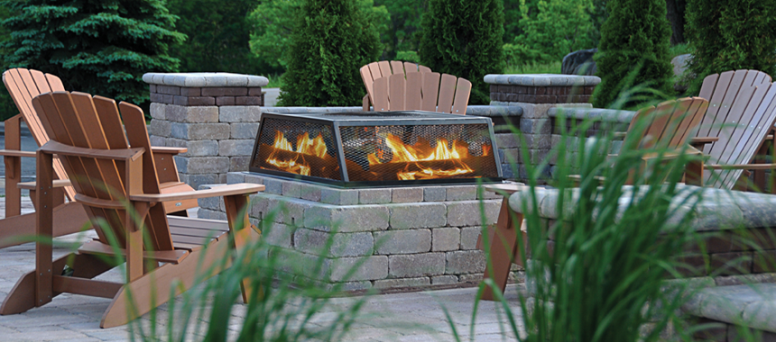 Firepit for apartment tenant use