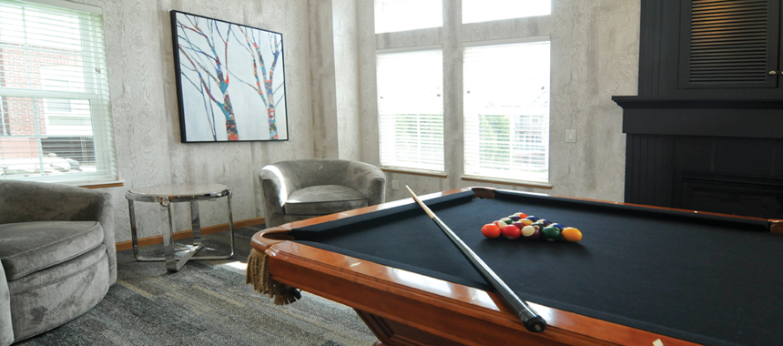 Billiard Table in apartment common area